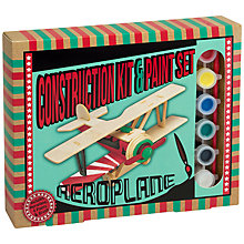 Buy Professor Puzzle Aeroplane Construction Kit and Paint Set Online at johnlewis.com