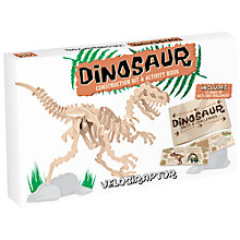 Buy Professor Puzzle Large Velociraptor Kit and Book Pack Online at johnlewis.com