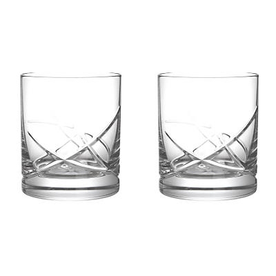 John Lewis Stellar Cut Crystal Tumblers, Set of 2