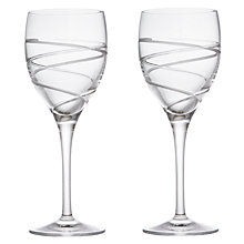 Buy John Lewis Aurora Cut Crystal Wine Glasses, Set of 2 Online at johnlewis.com