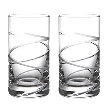 Buy John Lewis Aurora Cut Crystal Highball, Set of 2 Online at johnlewis.com