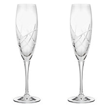 Buy John Lewis Stellar Cut Crystal Flutes, Set of 2 Online at johnlewis.com