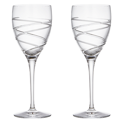 John Lewis Aurora Cut Crystal Goblet, Set of 2