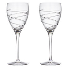 Buy John Lewis Aurora Cut Crystal Goblet, Set of 2 Online at johnlewis.com