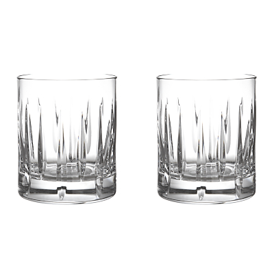 John Lewis Glacier Cut Crystal Tumblers, Set of 2