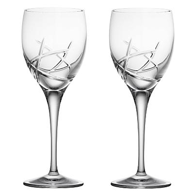 John Lewis Stellar Cut Crystal Wine Glasses, Set of 2