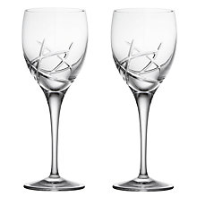 Buy John Lewis Stellar Cut Crystal Wine Glasses, Set of 2 Online at johnlewis.com