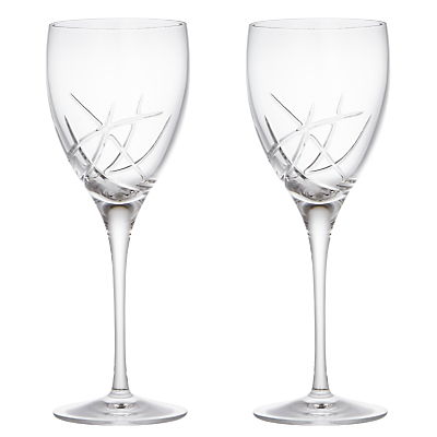 John Lewis Stellar Cut Crystal Goblets, Set of 2