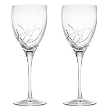 Buy John Lewis Stellar Cut Crystal Goblets, Set of 2 Online at johnlewis.com