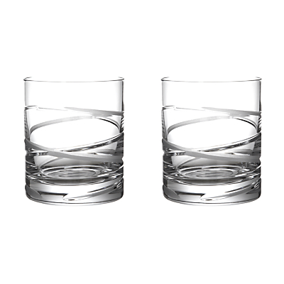 John Lewis Aurora Cut Crystal Tumblers, Set of 2