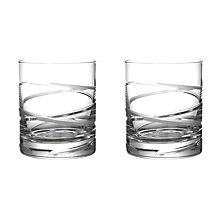 Buy John Lewis Aurora Cut Crystal Tumblers, Set of 2 Online at johnlewis.com