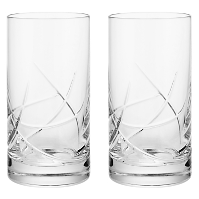 John Lewis Stellar Cut Crystal Highballs, Set of 2