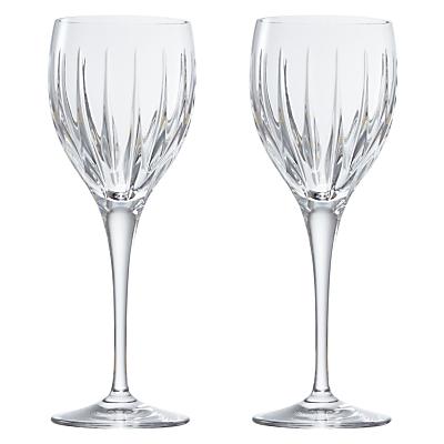John Lewis Glacier Cut Crystal Wine Glasses, Set of 2