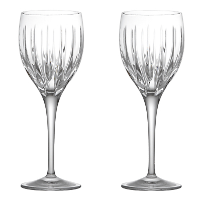 John Lewis Glacier Cut Crystal Goblets, Set of 2