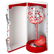 Buy Lolita Wine Glass, Red Hot Super Bling Online at johnlewis.com