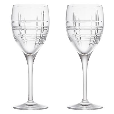 John Lewis Latitude Cut Crystal Wine Glasses, Set of 2
