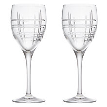 Buy John Lewis Latitude Cut Crystal Wine Glasses, Set of 2 Online at johnlewis.com