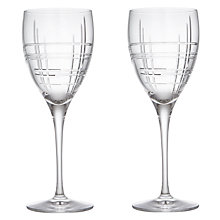 Buy John Lewis Latitude Cut Crystal Goblets, Set of 2 Online at johnlewis.com