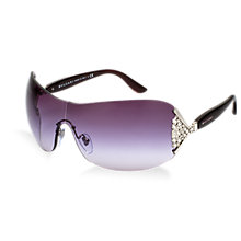 Buy Bvlgari 0bv6061b Wraparound Sunglasses, Silver Online at johnlewis.com