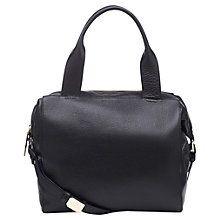 Buy Whistles Jenny Zip Top Tote Bag, Black Online at johnlewis.com