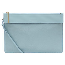 Buy Whistles Olivia Leather Strap Clutch Bag, Pale Blue Online at johnlewis.com