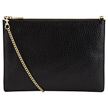 Buy Whistles Rivington Bubble Chain Pouch Bag, Black Online at johnlewis.com