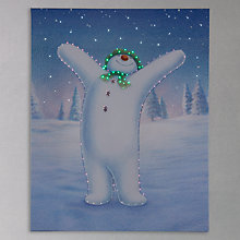 Buy Snowman Lit Canvas Online at johnlewis.com
