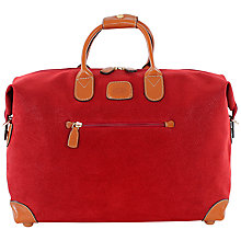 Buy Bric's Life Small Clipper Holdall, Red Online at johnlewis.com
