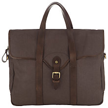 Buy JOHN LEWIS & Co. Sao Paulo Canvas Leather Trim Work Bag, Charcoal Online at johnlewis.com