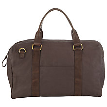 Buy JOHN LEWIS & Co. Sao Paulo Canvas Leather Trim Holdall, Charcoal Online at johnlewis.com