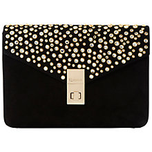 Buy Dune Bethy Suede Embellished Clutch Bag Online at johnlewis.com