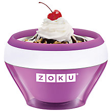 Buy Zoku Ice Cream Maker Online at johnlewis.com