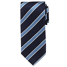 Buy Hackett London Club Stripe Tie, Navy Online at johnlewis.com