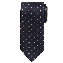 Buy Hackett London Mini Floral Silk Tie, Navy Online at johnlewis.com
