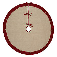 Buy John Lewis Linen Bell Tree Skirt Online at johnlewis.com