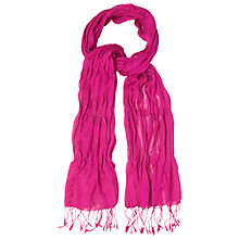 Buy White Stuff Catch Me If You Can Scarf, Magenta Online at johnlewis.com