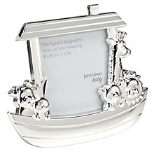 Buy John Lewis Silver Plated Noah's Ark Photo Frame Online at johnlewis.com