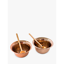 Buy Just Slate Copper Bowls With Spoons, Set of 2 Online at johnlewis.com