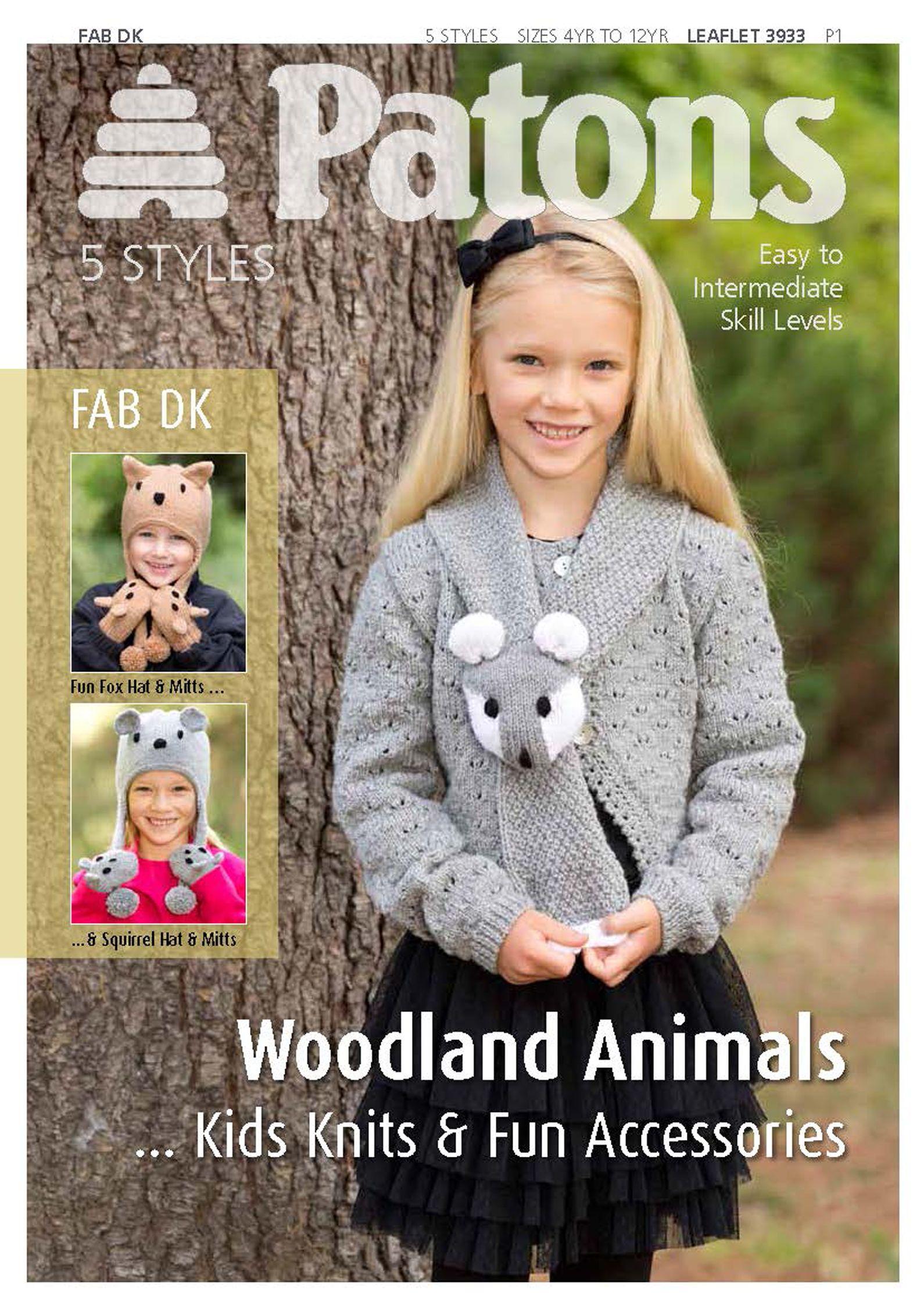 Patons Patons Yarn Woodland Animal Knitting Pattern