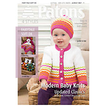 Buy Patons Yarn Modern Baby Knits/Rugs/Toys Knitting Pattern Online at johnlewis.com