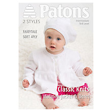 Buy Patons 4 Ply Knitted Matinee Jacket Leaflet Online at johnlewis.com