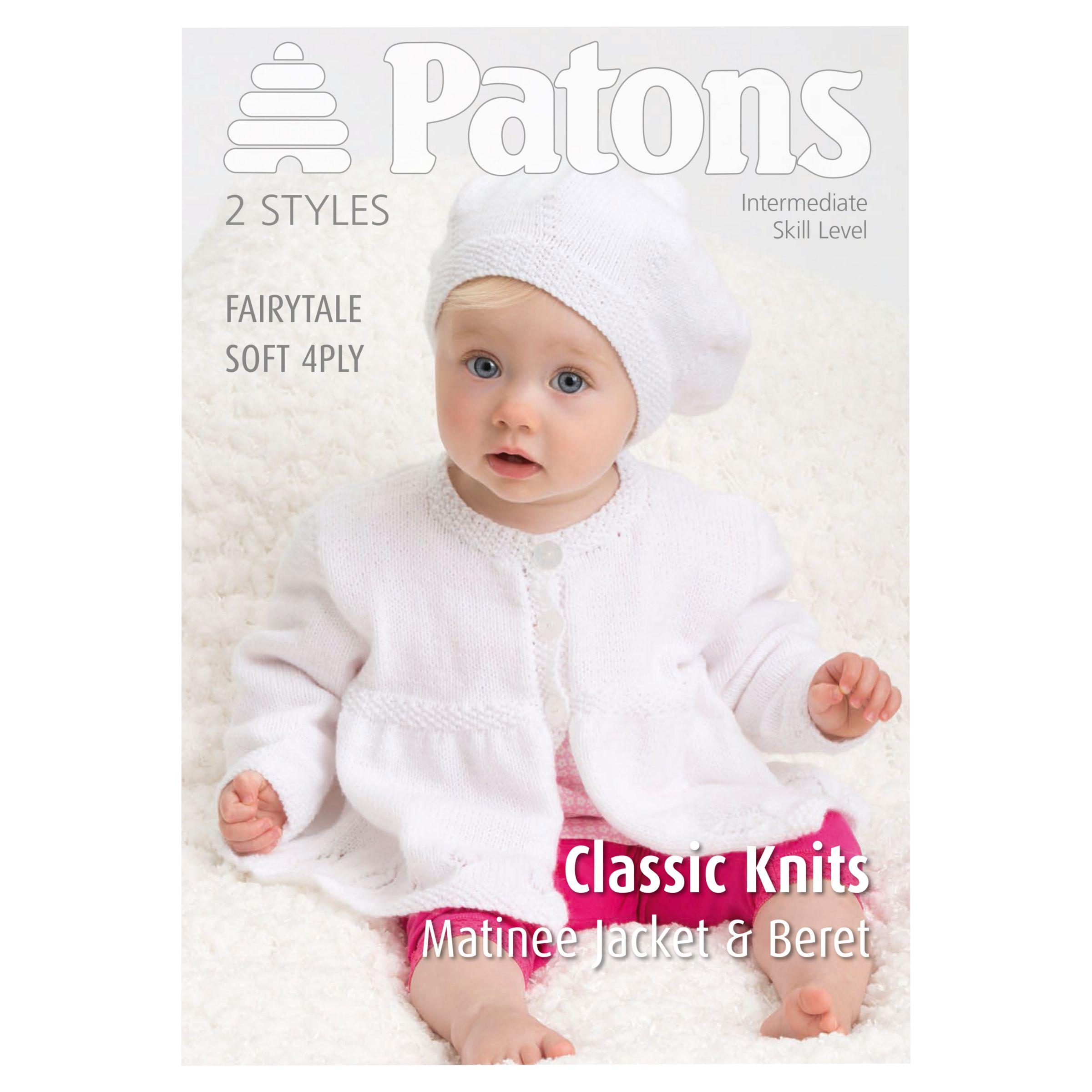 Buy Patons 4 Ply Knitted Matinee Jacket Knitting Pattern John Lewis