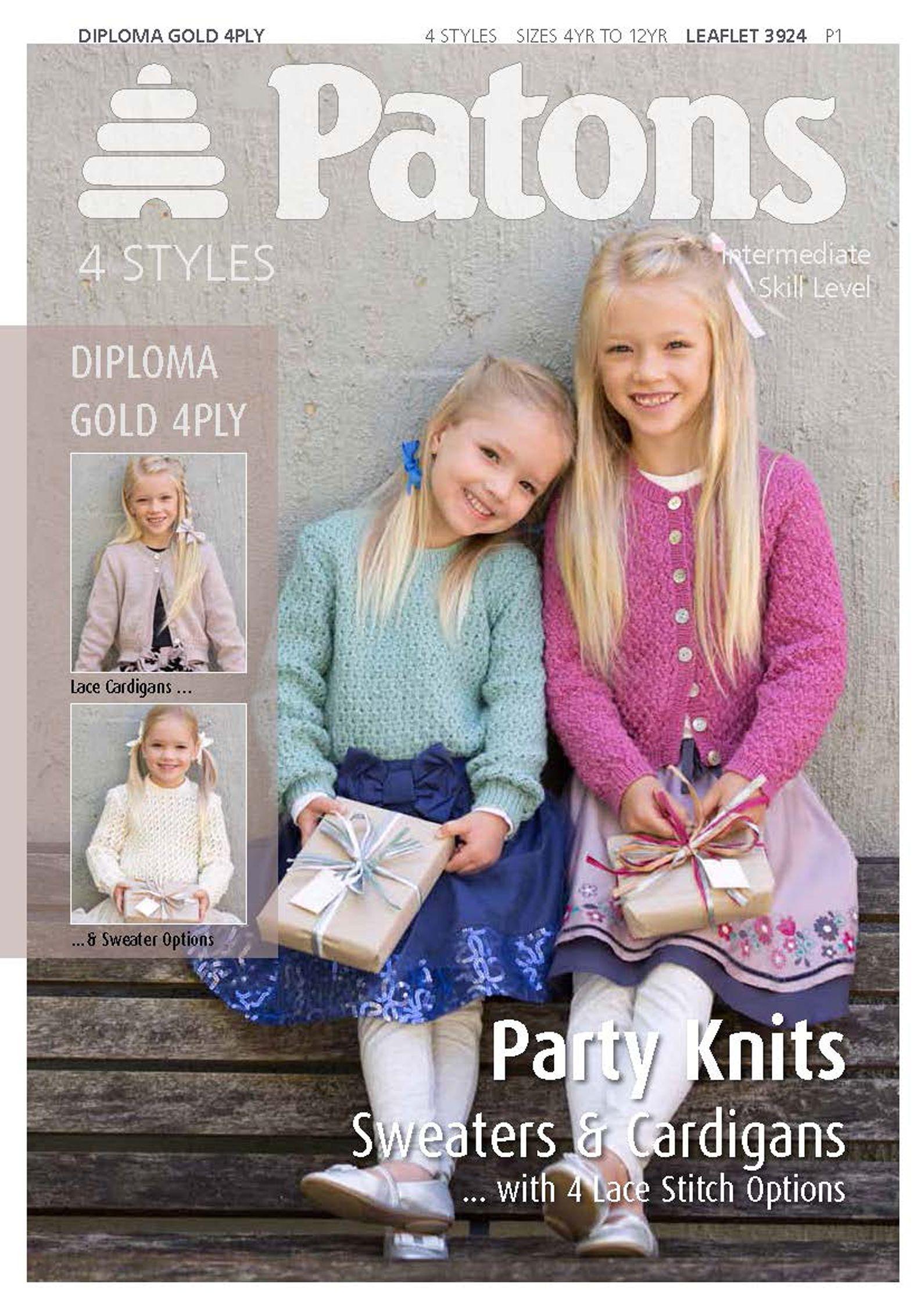 Patons Patons Yarn Girls Party Knitting Pattern