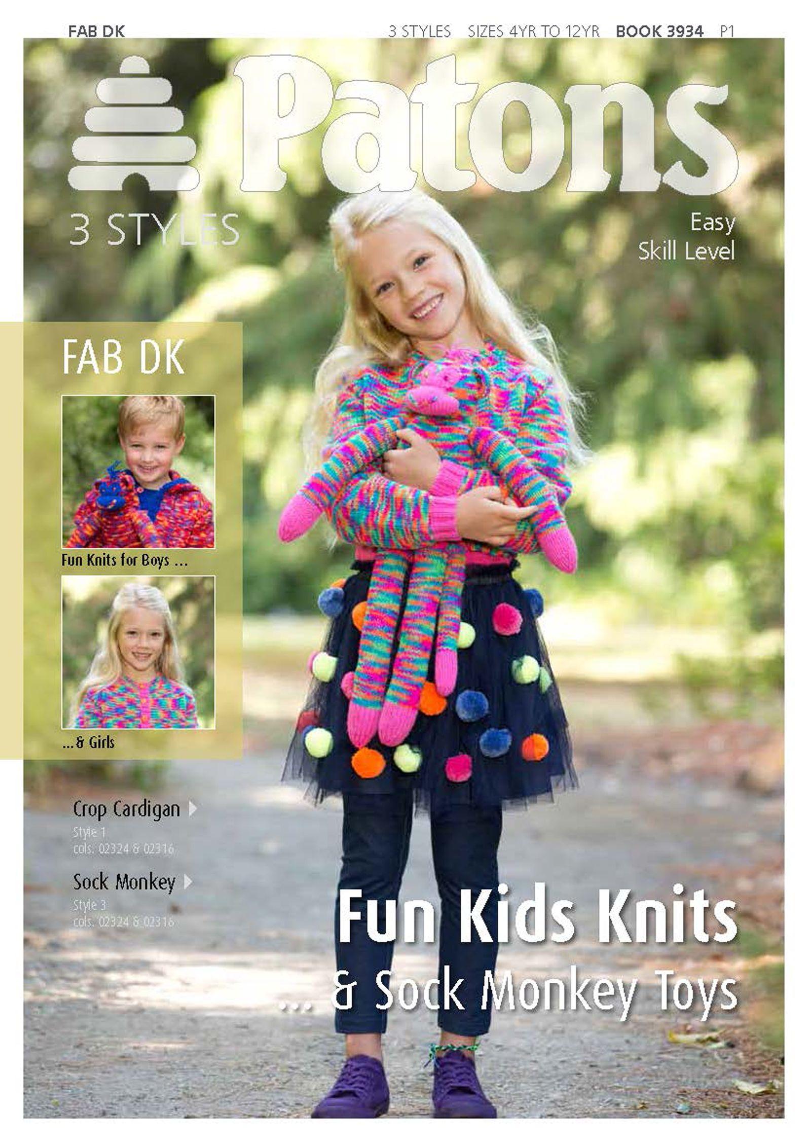 Buy Patons Yarn Fun Kids Knitting Pattern John Lewis