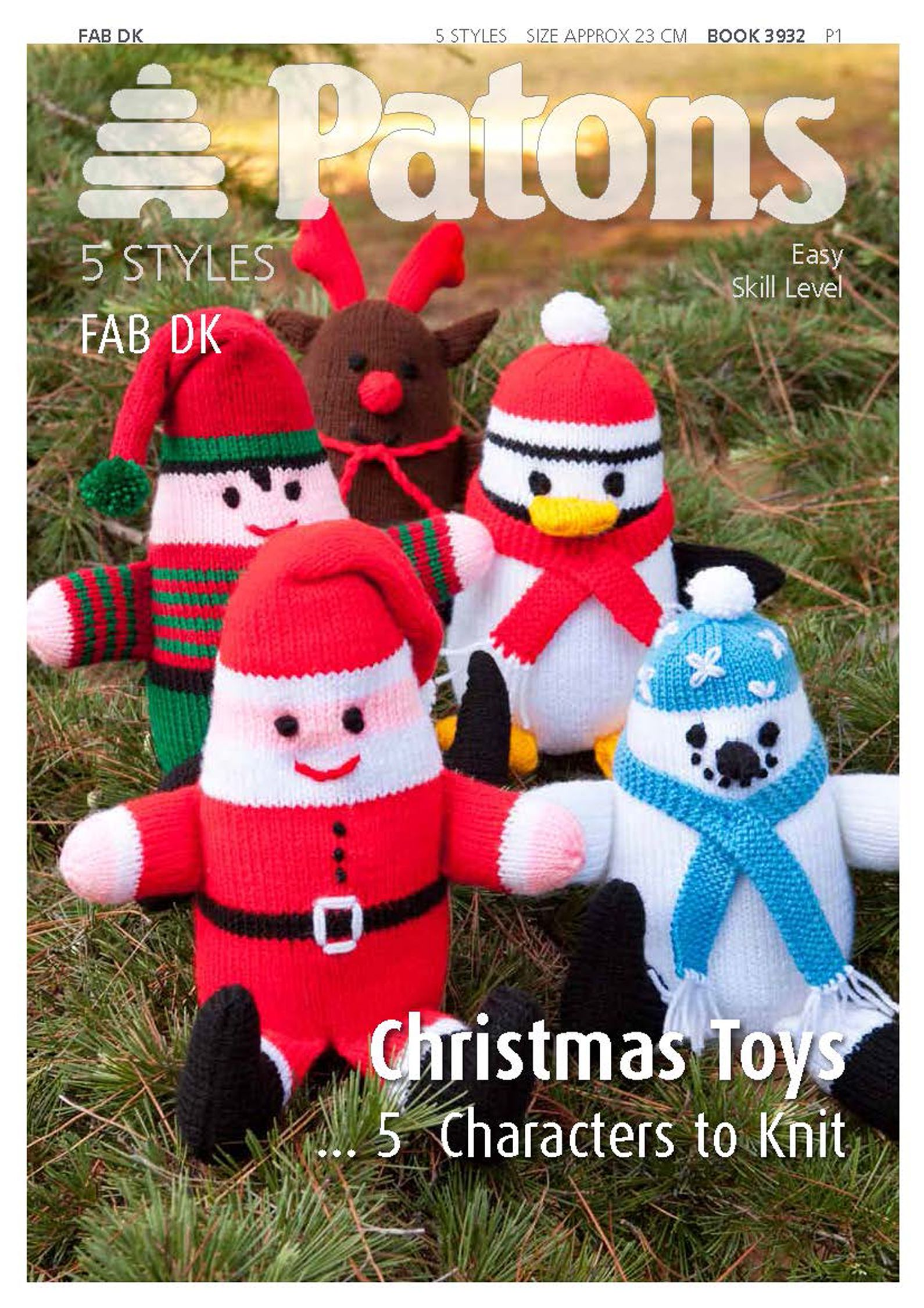 John Lewis Snowman Knitting Pattern : Buy Patons Yarn Christmas Toys Knitting Pattern John Lewis