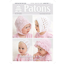 Buy Patons Yarn Filet Crochet Bonnet Leaflet Online at johnlewis.com