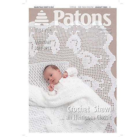 Crochet Patterns To Buy Online : Buy Patons Shawl 3 Ply Crochet Pattern Online at johnlewis.com