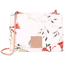 Buy Ted Baker Trudie Botanical Bloom Clutch Bag, Pale Pink Online at johnlewis.com