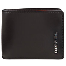 Buy Diesel Neela Contrast Lining 6 Credit Card Wallet, Black/Orange Online at johnlewis.com