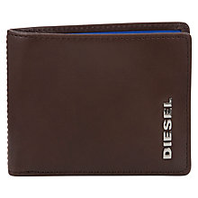 Buy Diesel Neela Contrast Lining 6 Credit Card Wallet, Brown/Blue Online at johnlewis.com